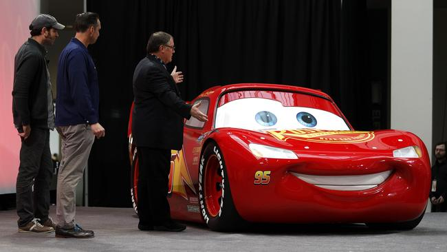 The life-size Lightning McQueen.
