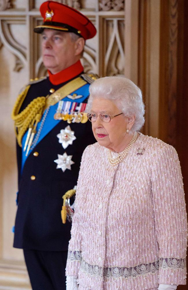 The Queen is said to be 'disappointed' by Andrew's BBC interview. Picture: Dominic Lipinski/AFP