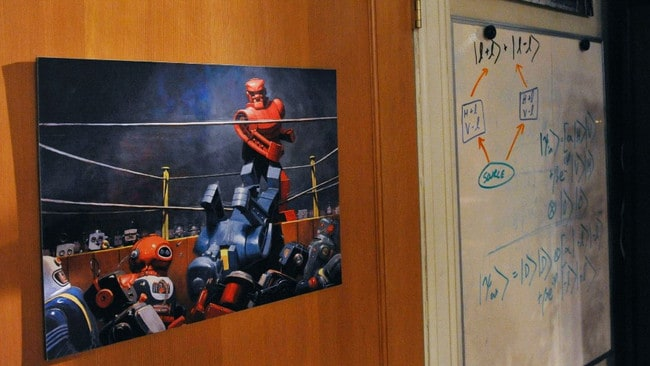 Cuoco plans to take the robot poster from set.