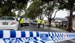 SYDNEY, AUSTRALIA - NCA NewsWire Photos August, 9, 2020 Photo of police on the crime scene in Ashby Avenue, Yagoona, after a man has been seriously injured in a crossbow attack today. Picture: NCA NewsWire/Flavio Brancaleone