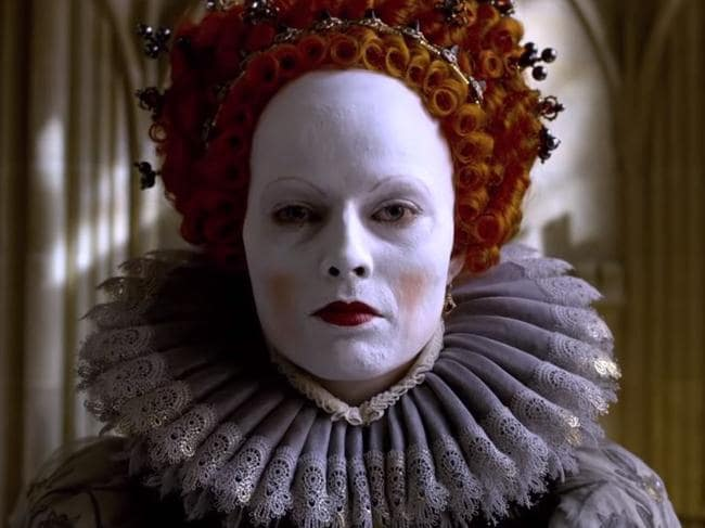 Margot Robbie stars as Elizabeth I in Mary Queen of Scots. Picture: Supplied