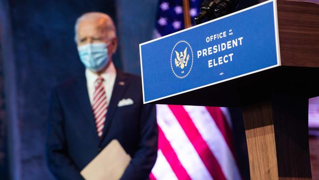Joe Biden, waiting in the wings for the furore to die down. Picture: Roberto Schmidt/AFP.