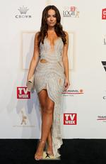Monika Radulovic arrives on the red carpet at the 59th annual TV Week Logie Awards on April 23, 2017 at the Crown Casino in Melbourne, Australia. Picture: Julie Kiriacoudis