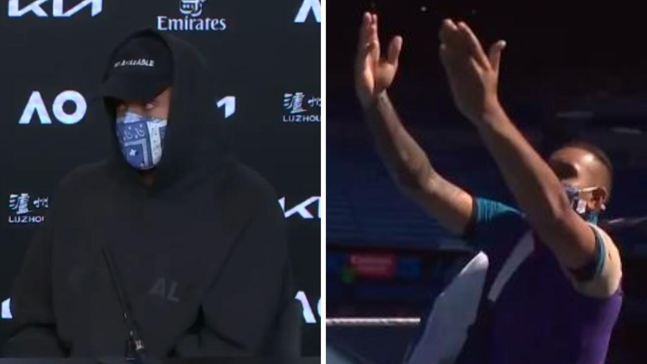 "Nick Kyrgios says he was ""spreading the good word"" of Novak Djokovic's trademark celebration on Sunday."