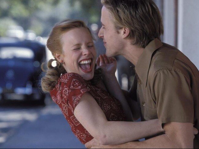 Rachel McAdams and Ryan Gosling in a scene from The Notebook. Picture: The Notebook