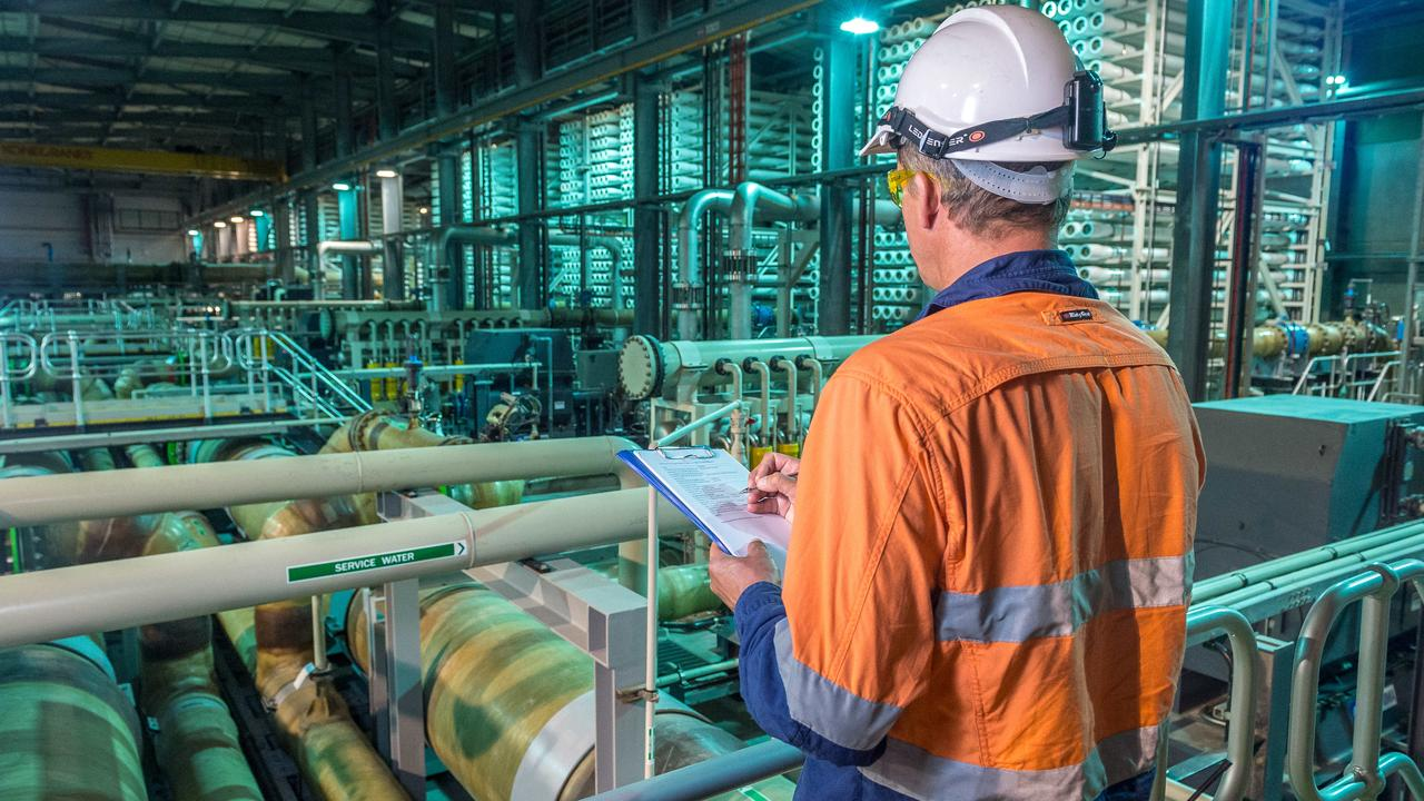 Victoria's desalination plant at Wonthaggi in Gippsland. Picture: Jake Nowakowski