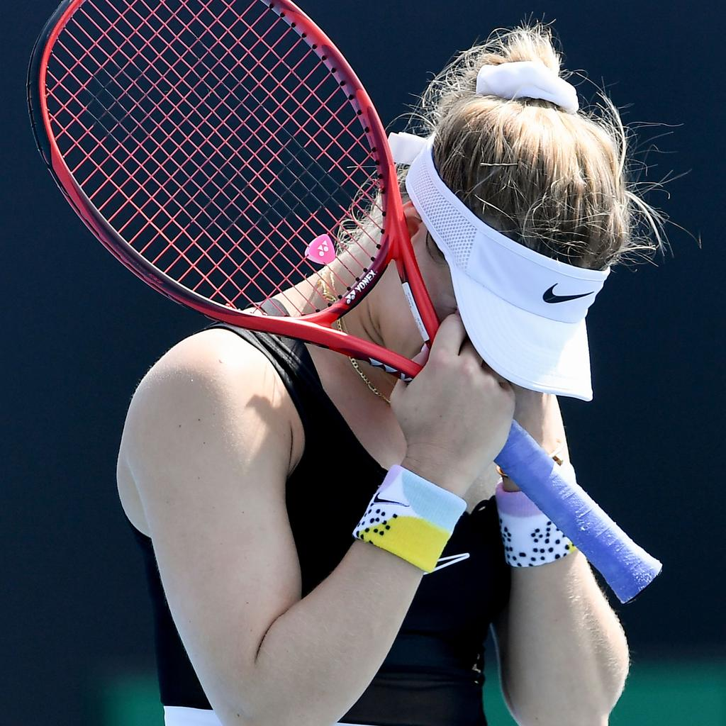 Eugenie Bouchard lost in qualifying at this year's Australia Open. (Photo by William WEST / AFP)