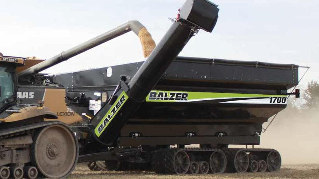 Us made balzer chaser bins tracked at 3m for controlled for 90 soil compaction