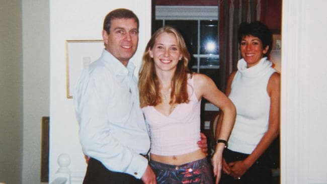 Prince Andrew and Virginia Giuffre, nee Roberts, aged 17, at Ghislaine Maxwell's townhouse in London in 2001. Picture: Shutterstock