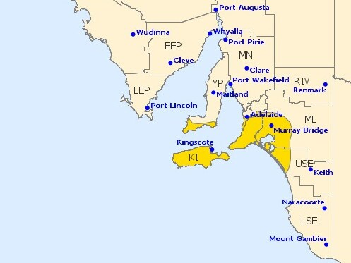 The Bureau has issued a number of severe weather warnings across New South Wales, Victoria and South Australia.