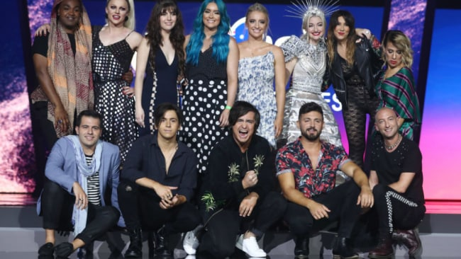 The finalists vying for Australia's Eurovision spot. Source: Getty Images