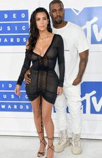 Kanye West and Kim Kardashian West attend the 2016 MTV Video Music Awards at Madison Square Garden on August 28, 2016 in New York City. Picture: Jamie McCarthy/Getty Images