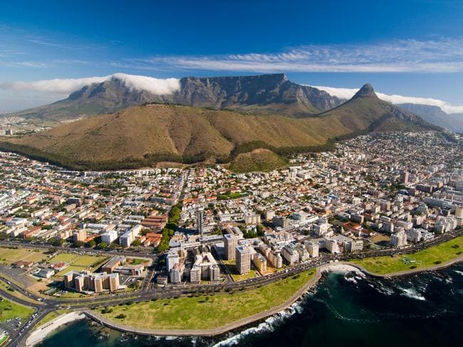 The famous Table Mountain towers over Cape Town. Picture: Alamy