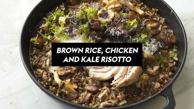 Brown Rice Chicken and Kale Risotto recipe