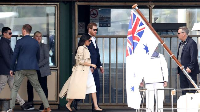 Meghan and Harry are now on their way to the Opera House.