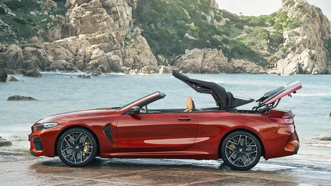 2020 BMW M8 Competition convertible.