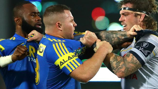 Nathan Brown added aggression to the Eels pack in 2017.