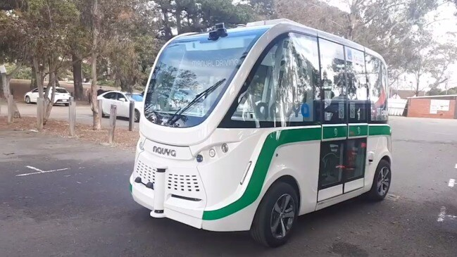 Driverless electric bus trial in Hobart