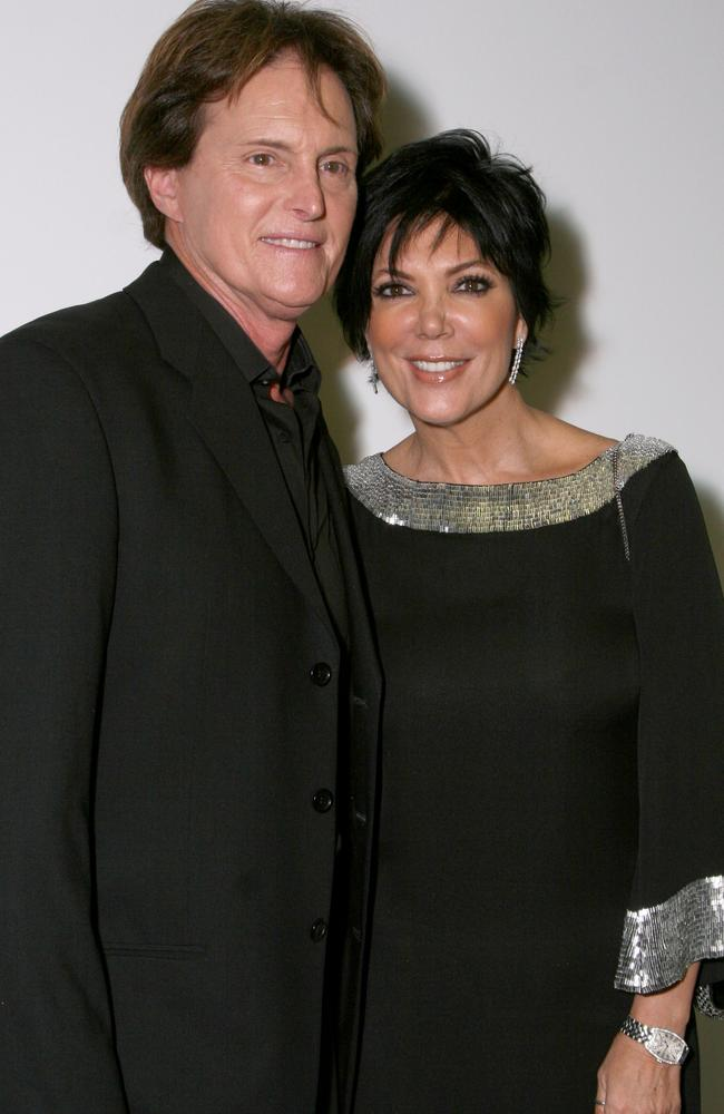 Then Bruce Jenner and Kris Jenner. Picture: Alberto E. Rodriguez/ Getty Images