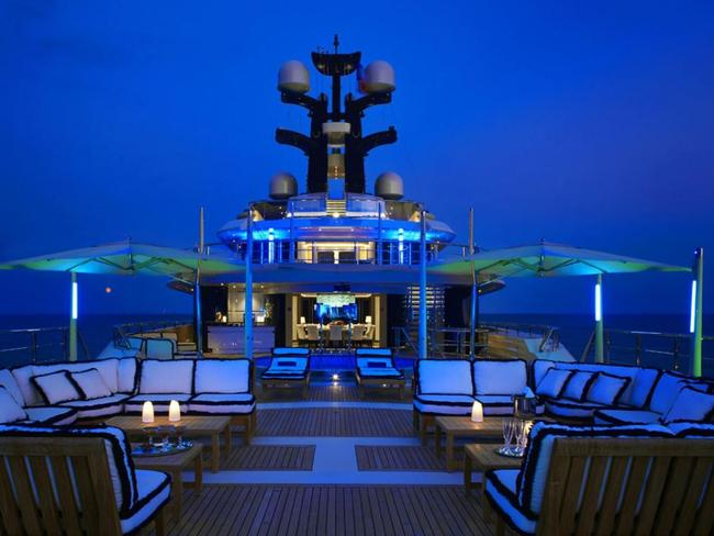 The 'Tranquillity' superyacht is worth $250 million. Picture: Camper & Nicholsons International