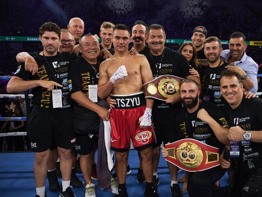 Tim Tszyu is headed for the top. (Photo by Brett Hemmings/Getty Images)