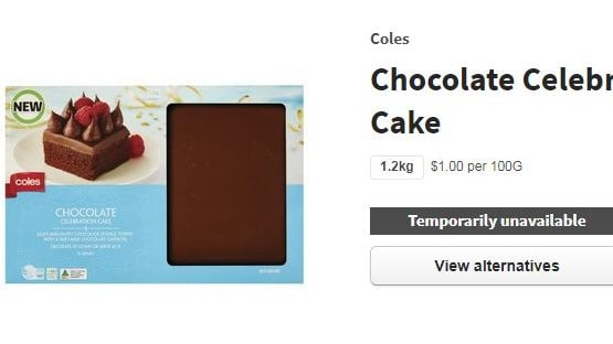 The cake is currently available to purchase online, but you can get it in stores.