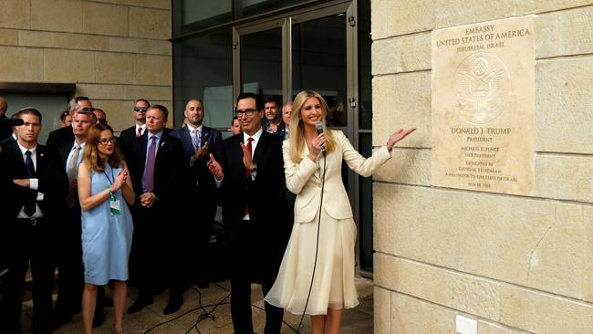 Ivanka sparked further controversy during a visit to Jerusalem earlier this year. Picture: Supplied