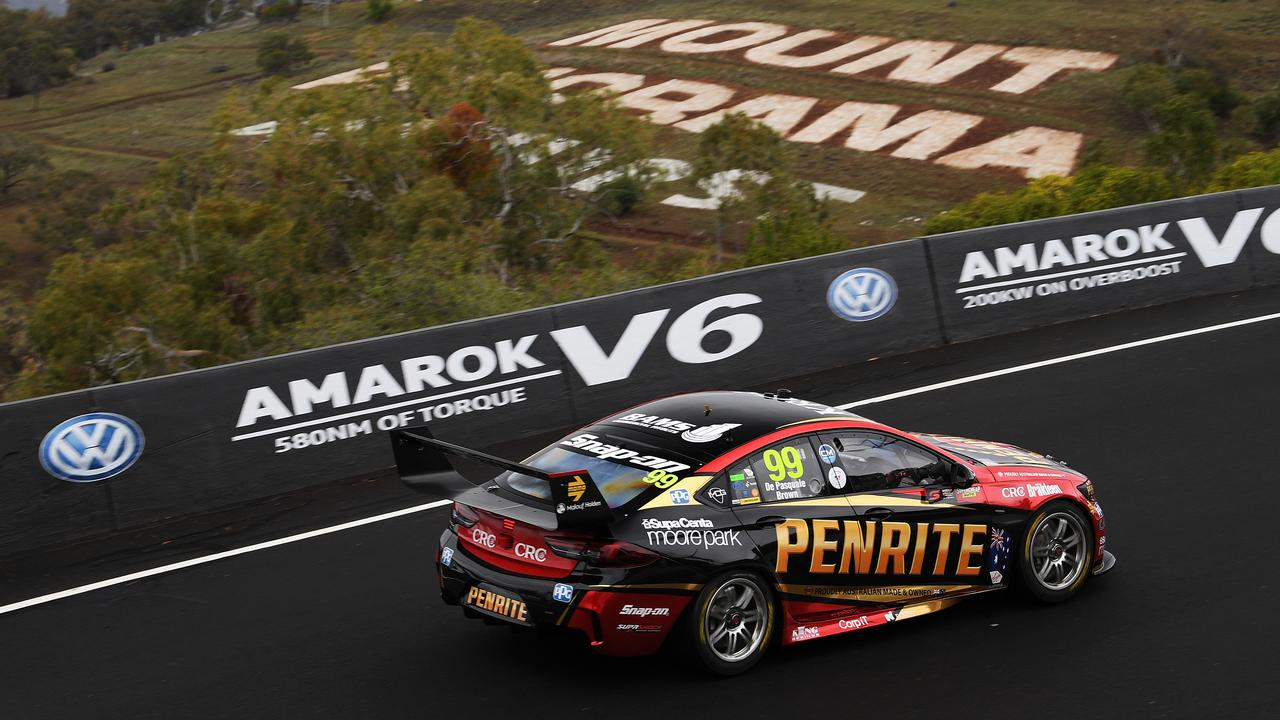 Mount Panorama's undulation presents challenges for drivers looking for marshal points. Picture: Daniel Kalisz