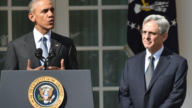 Mr Obama nominated a more liberal judge, Merrick Garland, but Republicans refused to confirm him. Picture: AFP