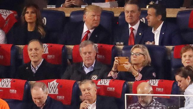 At least the seats were comfortable. Picture: Win McNamee/Getty Images