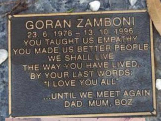 Goran Zamboni died 21 years ago.