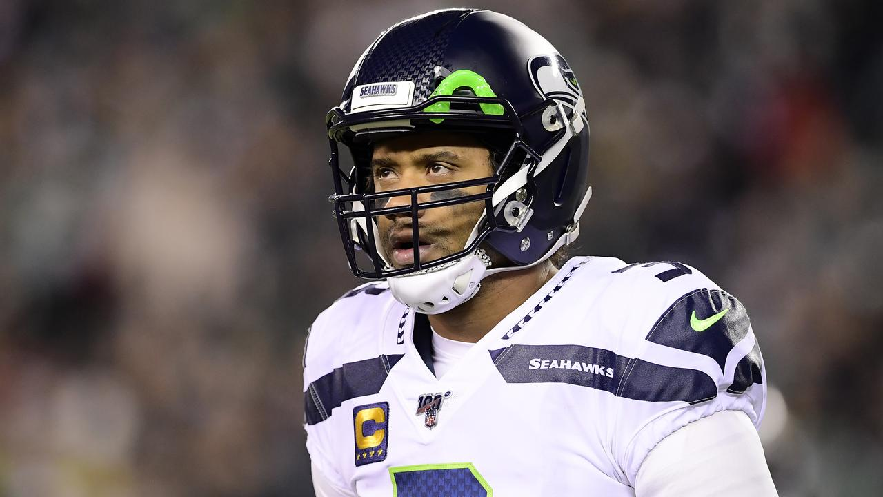 Russell Wilson trade rumours are picking up steam. (Photo by Steven Ryan/Getty Images)