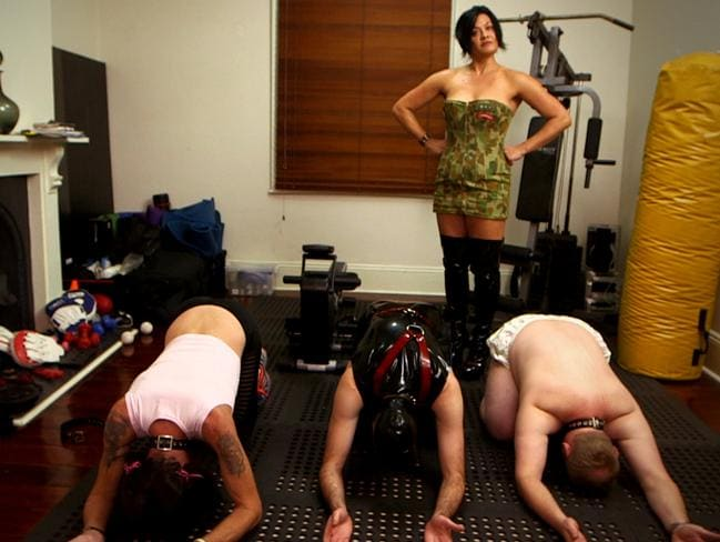 Mistress Anna runs small classes where the emphasis is on getting fit and having fun.