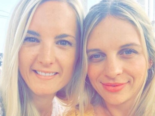 Expat Kristen Dineen (left) received a shock diagnosis in Bali. Picture: GoFundMe