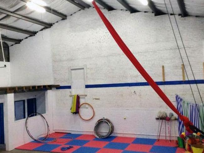 Inside the circus training school in Katoomba run by Therese Cook and her daughter Yyani Cook-Williams.