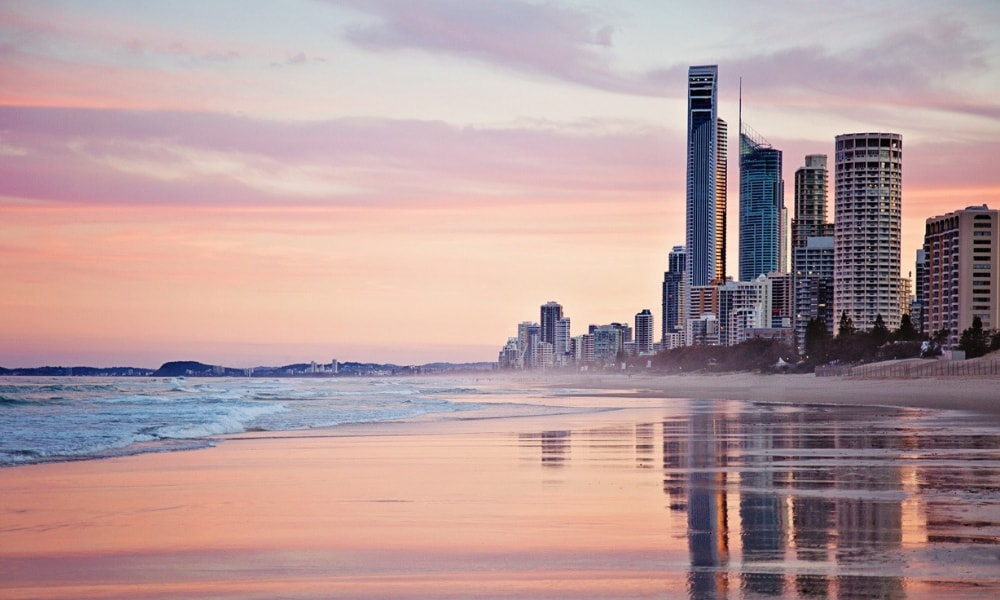 Sunset over the Gold Coast