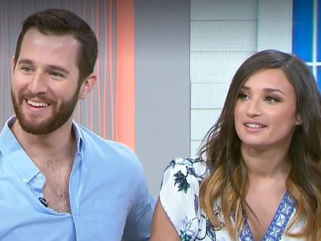 Matt flaunted his new romance with Annabelle on TV yesterday.