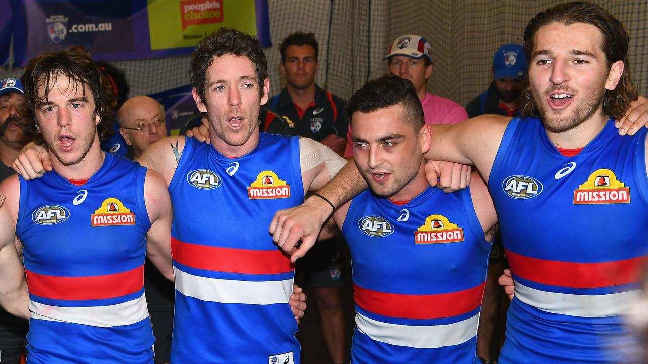 Bob Murphy and Luke Dahlhaus in happier times. (Photo by Quinn Rooney/Getty Images)