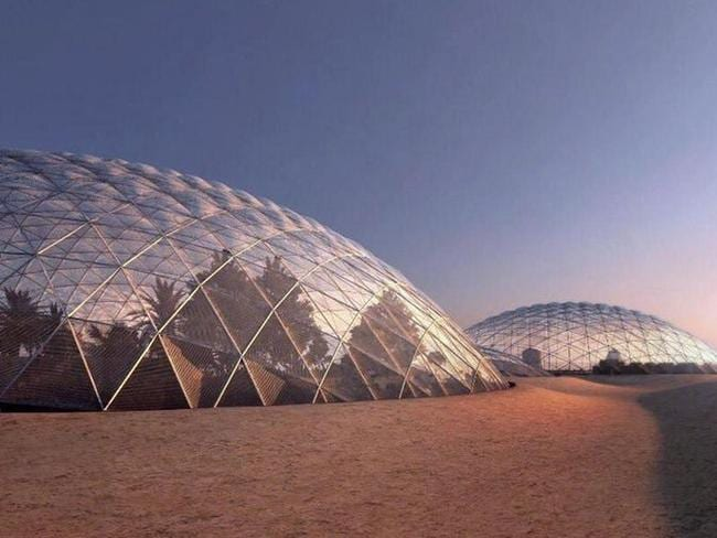 A giant Mars Science City will be built in the desert near Dubai as a simulation for a colony on the Red Planet by 2117. Picture: Dubai Media Office