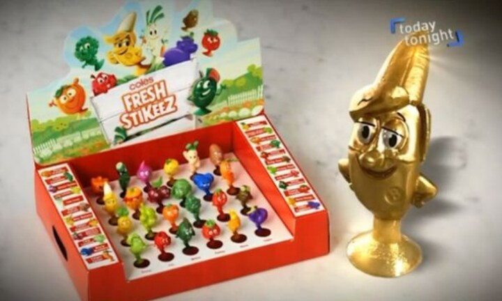 The collectables are available at Coles around the country. Source: Seven News