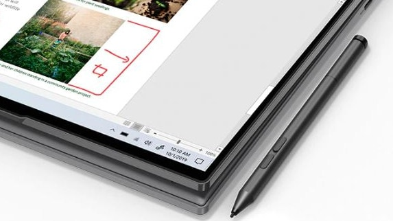 Lenovo also supports pen input on the new Yoga 5G.