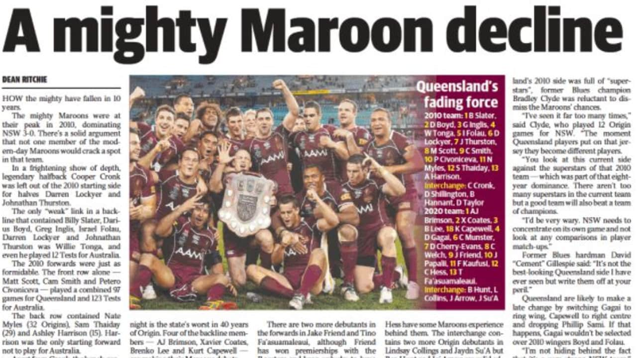 The Daily Telegraph article on Queensland's decline.