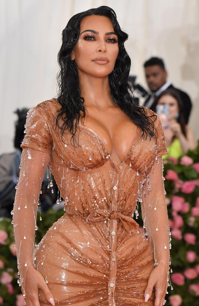By the time she walked the pink carpet at the Met, Kim Kardashian was not bothered. Picture: AFP