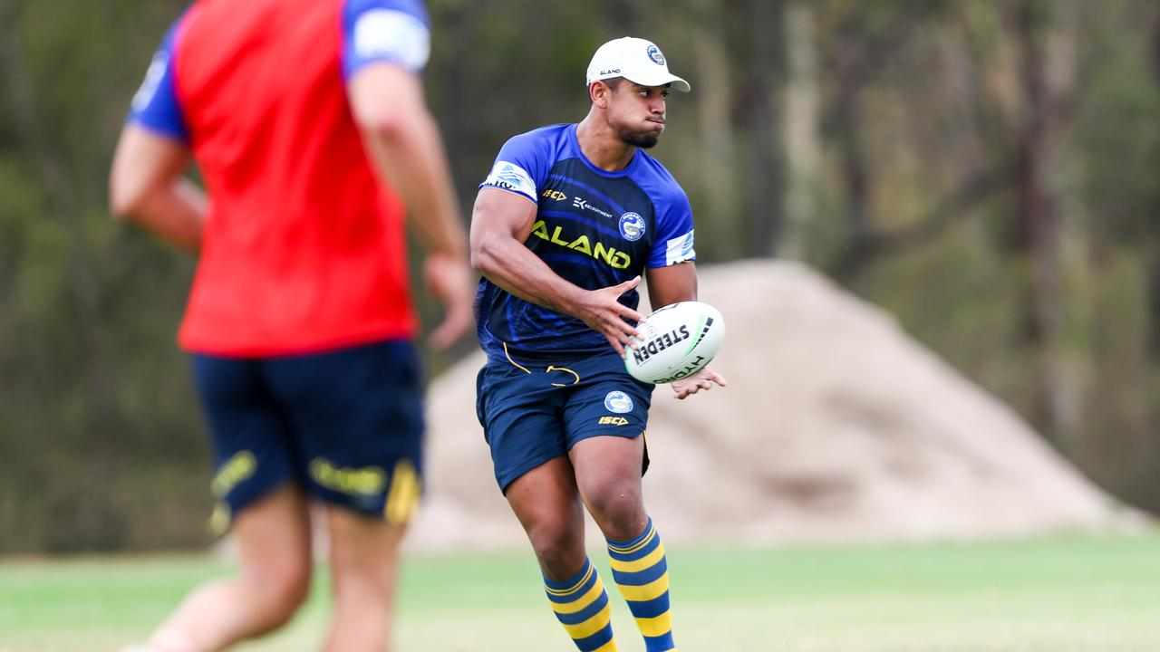 Oregon Kaufusi has a bright future with the club. Photo credit: Parramatta Eels