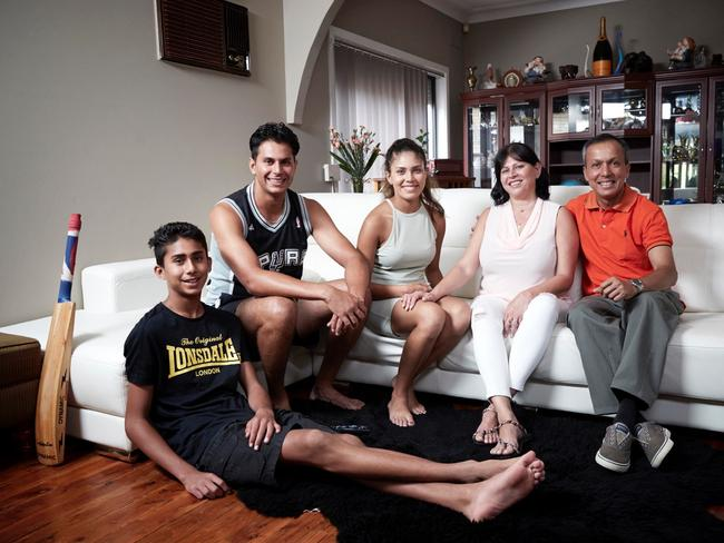 The new show will let people watch dating in action, like a kind of sport. Pictured is the cricket mad Delpechitra Family from  <i>Gogglebox Australia</i>. Picture: Supplied.