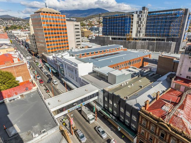 The Coogans site in the Hobart CBD.