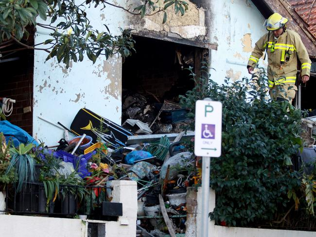 A hoarder's house in Marrickville that burnt down in 2013 injuring 2 occupants. Fire fighters had trouble accessing the house.