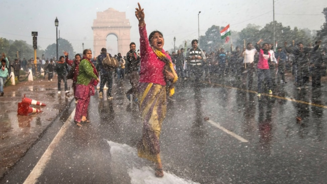 Protests in New Dehli against current rape laws. Image: Getty.