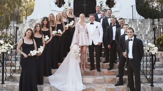 Karl Stefanovic and Jasmine Yarbrough wed in Cabo earlier this month.
