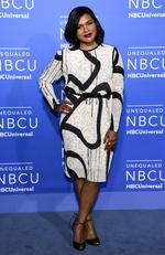 Mindy Kaling attends the 2017 NBCUniversal Upfront at Radio City Music Hall on May 15, 2017 in New York City. Picture: AP
